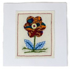 Embroidered Card - Pattern Flower (pack of 6 cards)