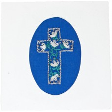 Embroidered Card - Cross (pack of 6 cards)