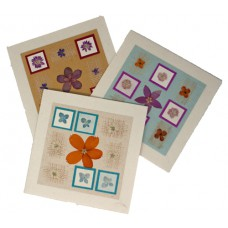 Flower Cards - Small Square (assorted pack of 6 cards)