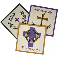 Sympathy Cards - With Sympathy (assorted pack of 6 cards)