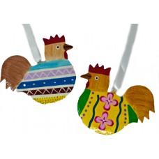 Flat Hanging Chicken - Fun Designs (pack of 12)