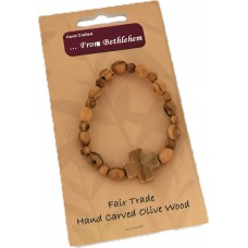 Bracelet with Wooden Cross (pack of 12)