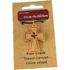 Olive Wood Pendant - Dove (pack of 12)