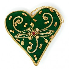 Zari Heart - Green (pack of 6)