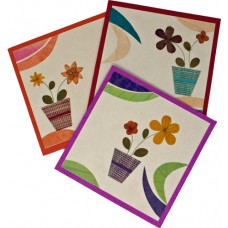 Flower Cards - Swirl (assorted pack of 6 cards)