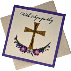 Sympathy Cards - With Sympathy - Purple Card (pack size 6)