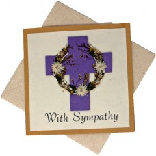 Sympathy Cards - With Sympathy - Yellow Card (pack size 6)