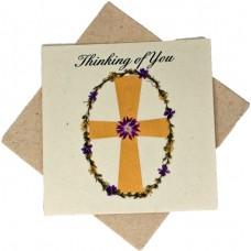 Sympathy Cards - Thinking of You - Cross (pack size 6)